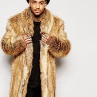 ASOS | ASOS Faux Fur Overcoat at ASOS