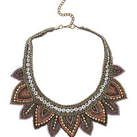 Fabric Leaf Bead Necklace - Jewelry - New In This Week  - New In
