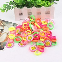 5pcs/Lot Cheshanf Child Baby Kids Ponytail Holders Hair Accessories For Girls Rubber Bands Tie Gum Accessories