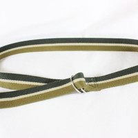 "~~~ COOL GIRL ESSENTIAL ~~~ ISABEL MARANT STRIPED ""CADWELL"" CANVAS BELT ~~~"