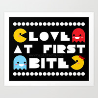 Kawaii Pac-Man Video Game Pop Art Print 9x8 Wall Art Home Decor Culture Ms Pac Man Gamer Hot 80s 90s Kid Namco Black Nerdy Nerd Geek Geekery