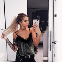 Ladies Sexy Backless Camisole Casual Tops [11293719247]