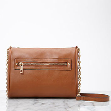 Crosshatched Faux Leather Crossbody