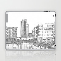 Clarence Dock Leeds Drawing Laptop & iPad Skin by Karl Wilson Photography