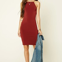 Square-Neck Bodycon Dress