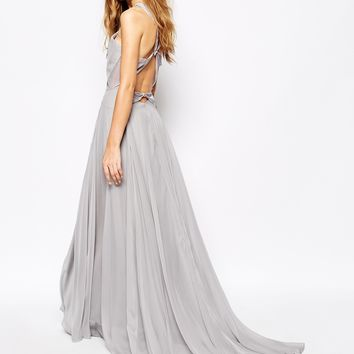 Fame and Partners Drama Queen Maxi Dress With Open Back