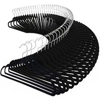 Costway 100PCS Velvet Clothes Suit/ Shirt/ Pants Hangers Hook Non Slip Storage Organize - Walmart.com