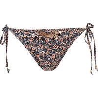 River Island Womens Orange pixelated print sequin bikini bottoms