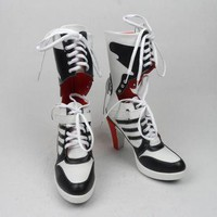 suicide squad harley quinn boots bota accessories black women for harley shoes harley
