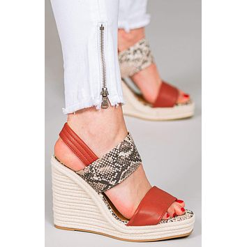 Camila Contrast Band Espadrille Wedges