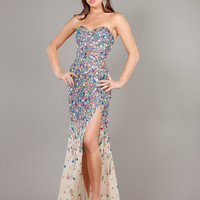Strapless Sweetheart Fit And Flare Formal Prom Dress By Jovani 946