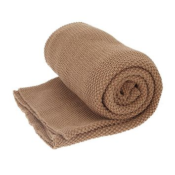 Cotton Knitted Wool Nap Sleeping Blankets Sleeper Home Cover