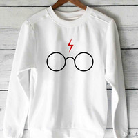 harry potter glasses  sweater unisex adults