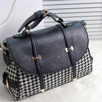 Vintage PunkHandbag Fashion Women Leather Shoulder Rocker Chic Messenger Bags Tote