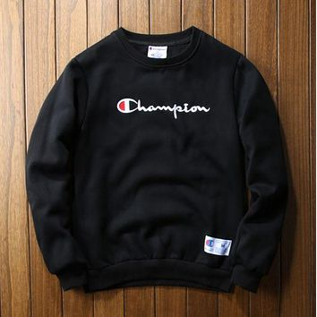Champion embroidery sweethearts outfit thickening Black