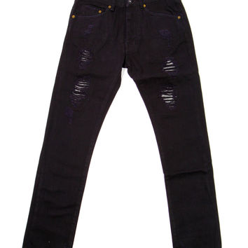 10 Deep - Damage Slim Pants (Black Repair)