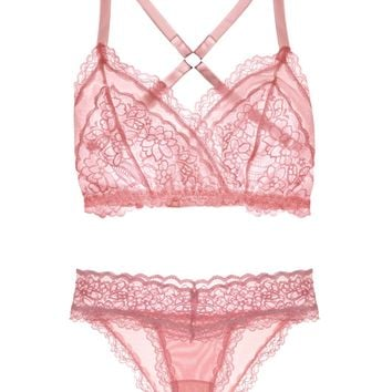 Lacey Easy Fit Lingerie Set — Rose Quartz