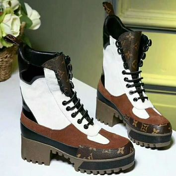 LOUIS VUITTON Boots For Women Shoes Waterproof Martin Boots 2 Color G-GCXGCFH-GC