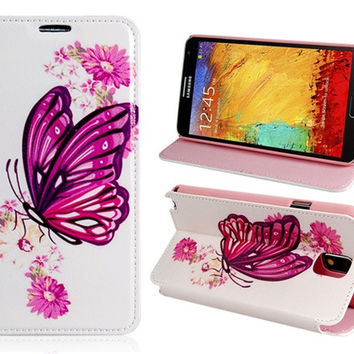 Flower & Butterfly Protective Case for Samsung Galaxy Note 3