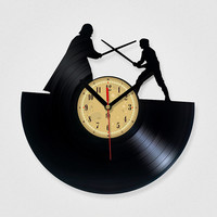 Vinyl Record Clock - Star Wars. The package will be shiped in JANUARY 2015.