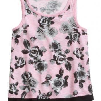 FLORAL TANK   GIRLS TOPS CLOTHES   SHOP JUSTICE