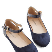 Scholastic Ready to Impress Flat in Navy by ModCloth