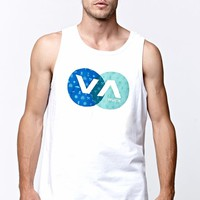 RVCA Ghost Town Tank Top - Mens Tee - White