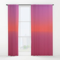 Pink TwoTone Window Curtains by kasseggs