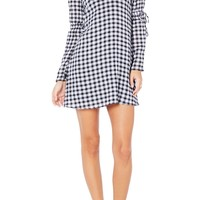 Michael Stars Gingham Stretch Cotton Minidress | Nordstrom