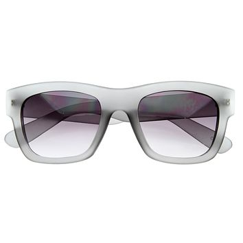 Artist Indie Hipster Fashion Soft Rubber Horned Rim Sunglasses 8355