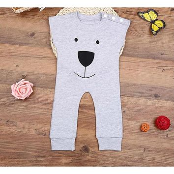 born Winter Rompers Cute Toddler Baby Girl Boy Bear Jumpers Rompers Outfits Clothes
