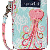 Simply Southern Phone Wristlet - Jellyfish