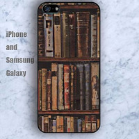 Retro shelf Book colorful iPhone 5/5S case Ipod Silicone plastic Phone cover Waterproof