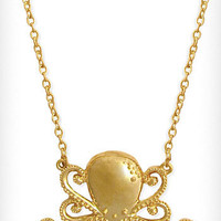 Gilded Octopus Necklace