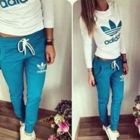 """Adidas"" Fashion Casual Letter Print Long Sleeve Long Pants Set Two-Piece Sportswear"