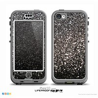 The Black Unfocused Sparkle Skin for the iPhone 5c nüüd LifeProof Case