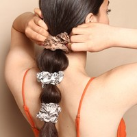 Snake Print Scrunchie Set