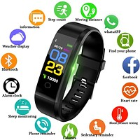 New Smart Watch Men & Women Heart Rate Blood Pressure Fitness