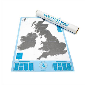 UK and Ireland Scratch Map