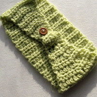 Crochet Wide Head Band, Lime Green, Boho HairBand, Hippie Chic, Ear Warmer, Winter Fashion