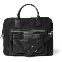 Marc by Marc Jacobs - Leather and Canvas Briefcase | MR PORTER