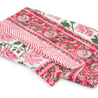 Floral Vine Tablecloth- Pink
