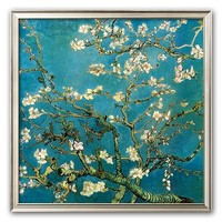 Art.com Almond Branches in Bloom, San Remy, c.1890 Framed Art Print by Vincent van Gogh