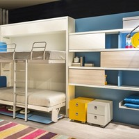 Pull-down bunk bed KALI DUO BOARD Kali Collection by CLEI