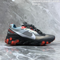 HCXX N1467 Nike Epic React Element 87-Undercover Mesh Fashion Running Shoes Black Red