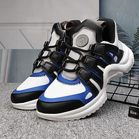 Louis Vuitton Sci-Fi Woman Men Fashion Sneakers Sport Shoes