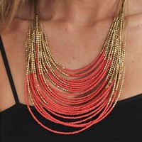 Potent Beauty Necklace Coral