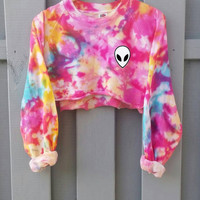 Candy Cotton Pastel Goth Sweater, blogger tumblr shirt, grunge alien
