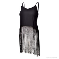 Midnight Hour Fringe  Tank Top