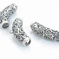 tube jewelry bails - sterling silver jewelry bails - sterling silver bails for pendants -bails for jewelry making - 27x7mm bail - 2pcs